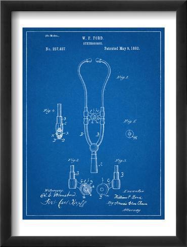 Stethoscope Patent Framed Art Print