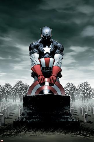 Captain America No.4 Cover: Captain America Poster