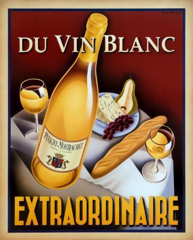 Du Vin Blanc Extraordinaire Art Print