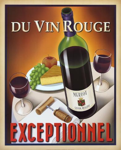 Du Vin Rouge Exceptionnel Art Print