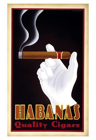 Habanas Quality Cigars Art Print