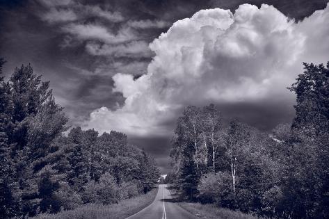 Northwoods Road Trip BW Photographic Print