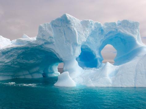 Arched Iceberg, Western Antarctic Peninsula, Antarctica Photographic Print