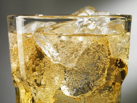 Close-up of Cider on Ice Photographic Print