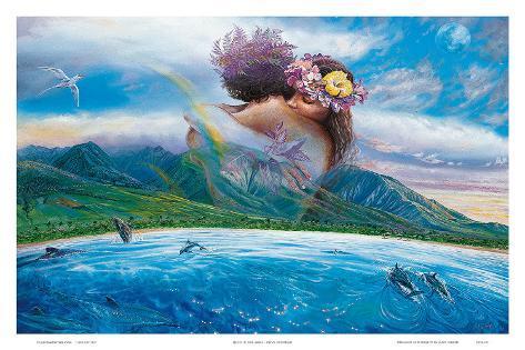 Held in the Arms of Heaven, Hawaii Art Print