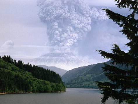 Mount St. Helens Erupting Photographic Print