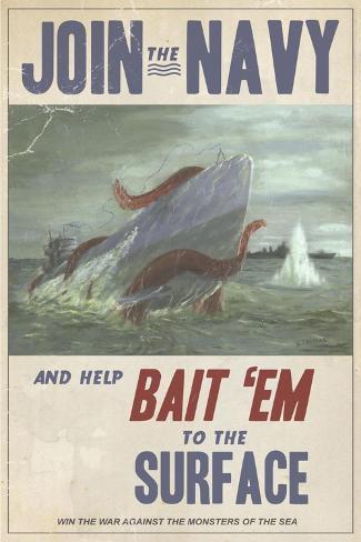 Join the Navy Impressão em tela esticada