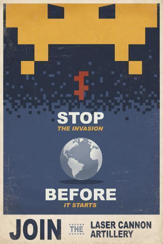 Stop the Invasion Before it Starts Impressão em tela esticada