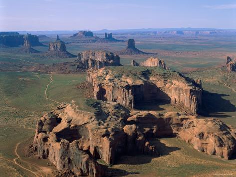 Monument Valley, Aerial, Arizona, USA Photographic Print