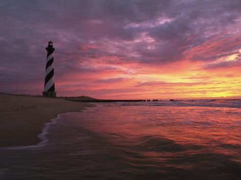 The 198-Foot Tall Lighthouse on Cape Hatteras Photographic Print