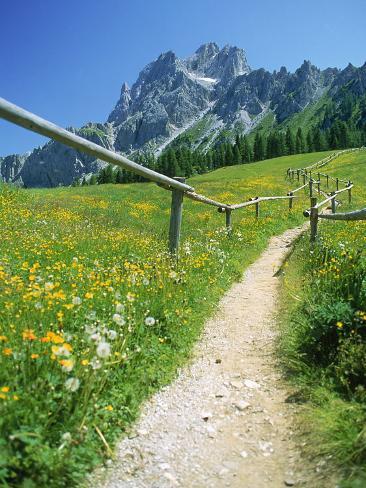 Trail to the Sexton Sundial, Sesto, Italy Photographic Print