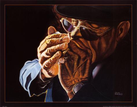 Blowin Blues Art Print