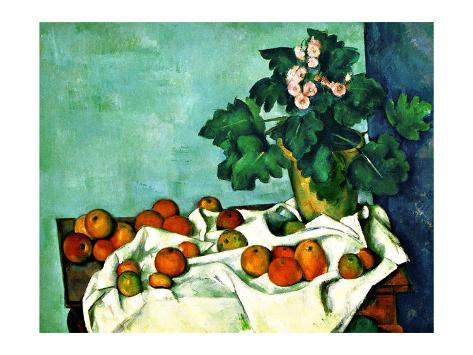 Still Life with Apples and Primroses Giclee Print