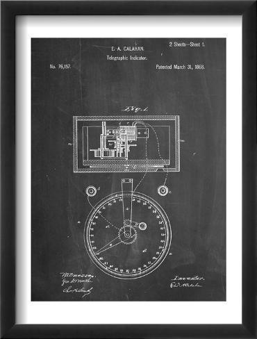 Stock Ticker Patent Framed Art Print