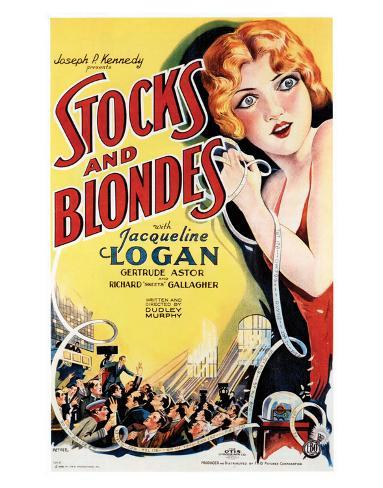 Stocks And Blondes - 1928 Giclee Print