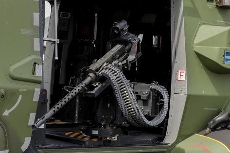 A 7,62Mm Machine Gun Inside a Eurocopter Nh90 of the Finnish Army Photographic Print