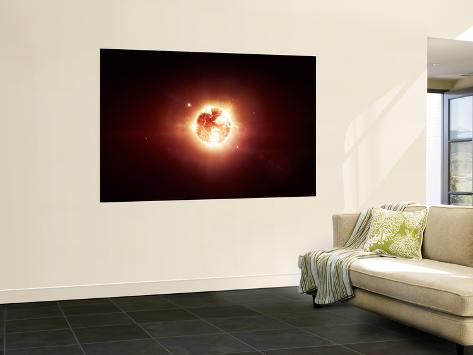 A Dying Star Which Will Soon Give New Beginning to a Black Hole Wall Mural