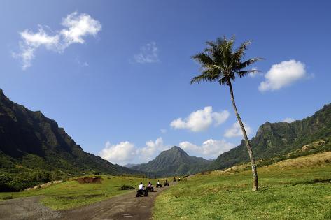 A Group of Atv Quad Riders Take to the Trail Near Ko'Olau Range in Oahu, Hawaii Photographic Print