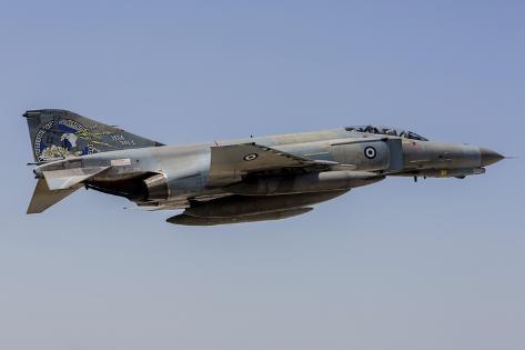 A Hellenic Air Force F-4E Phantom in 40th Anniversaey Markings Photographic Print
