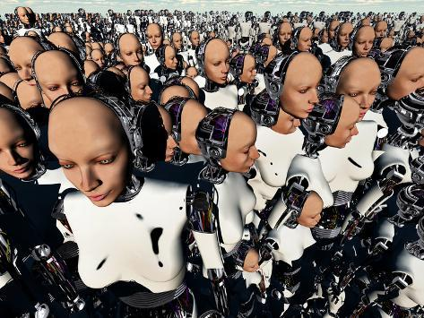 A Mass Gathering of Female Like Androids Photographic Print