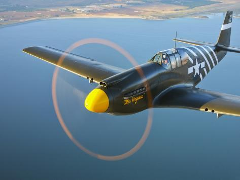 A P-51A Mustang in Flight Photographic Print