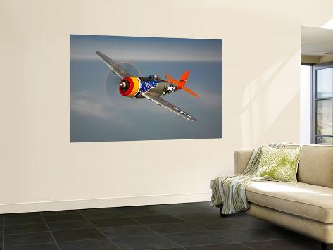 A Republic P-47D Thunderbolt in Flight Wall Mural