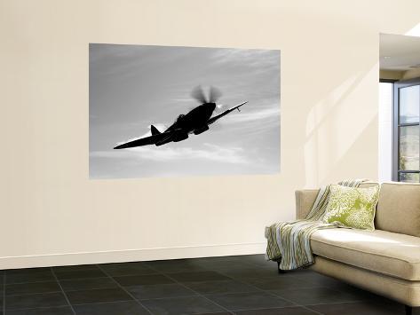 A Supermarine Spitfire MK-18 in Flight Giant Art Print