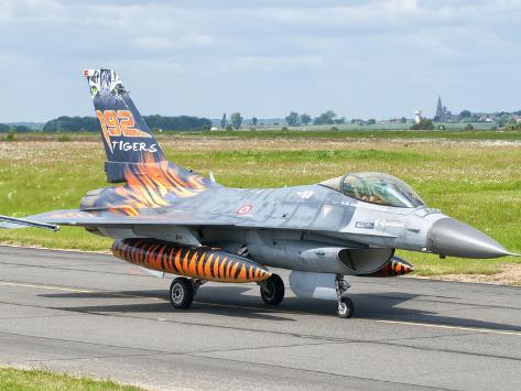 A Turkish Air Force F-16C Fighting Falcon on the Flight Line at Cambrai Air Base, France Photographic Print