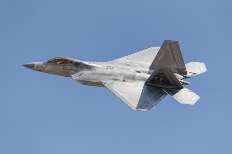 A U.S. Air Force F-22A Takes Off from Nellis Air Force Base, Nevada Photographic Print