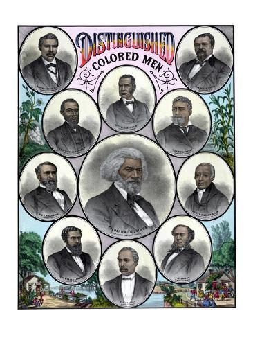 American History Print Featuring Some of the Most Celebrated African American Leaders Photographic Print