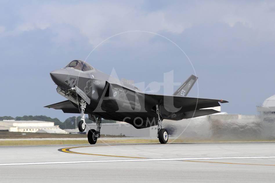 An F-35A Taking Off from Eglin Air Force Base, Florida