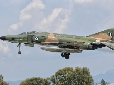 An F-4 Phantom of the Hellenic Air Force Photographic Print