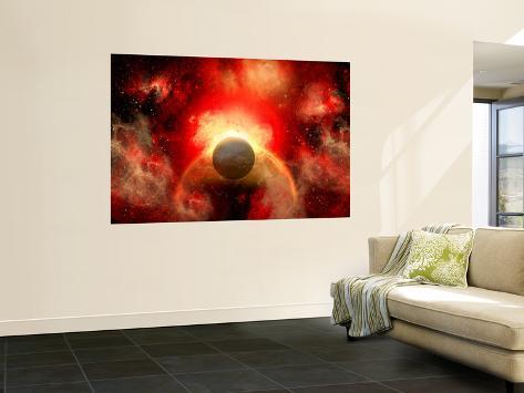 Artist' Concept Illustrating the Explosion of a Supernova Wall Mural