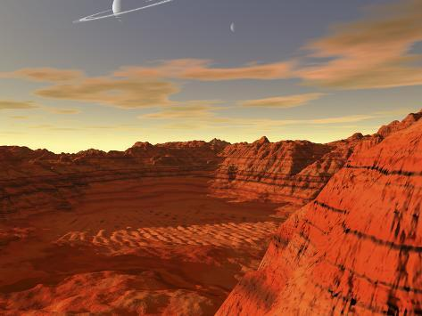 Artist's Concept of an Earth-Like Planet Photographic Print