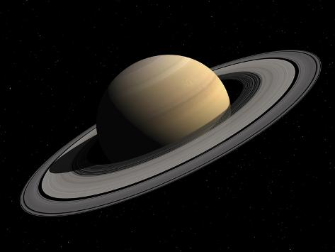 Artist's Concept of Saturn Photographic Print