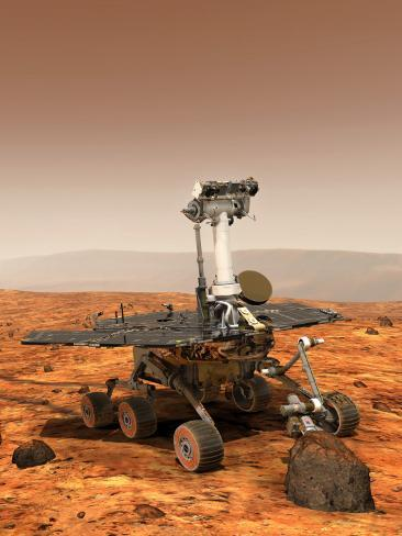 Artists Rendition of Mars Rover Photographic Print