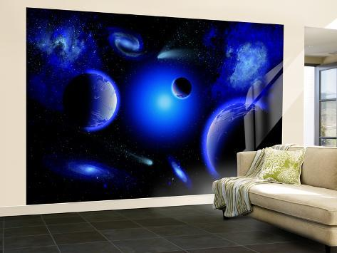 Blue Stars are Amongst the Youngest of the Stars in the Universe Wall Mural – Large