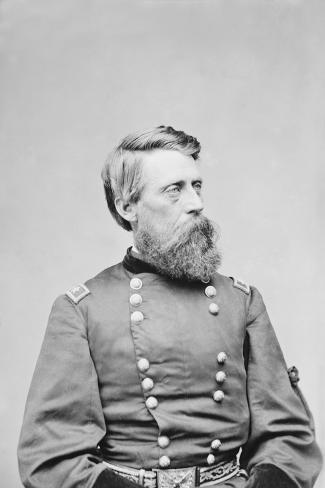 Civil War General Jefferson C. Davis of the Union Army, Circa 1860 Photographic Print