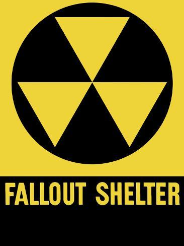 Cold War Era Fallout Shelter Sign Photographic Print
