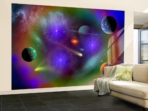 Conceptual Image of a Scene in Outer Space Wall Mural – Large