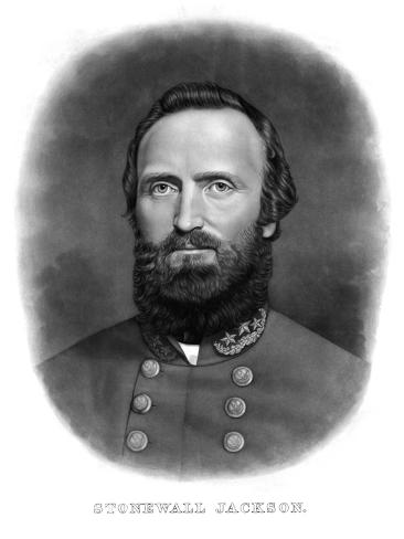 Digitally Restored Portrait of Thomas Stonewall Jackson Photographic Print