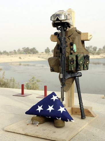 Fallen Soldier's Gear, Camp Baharia, Iraq, June 12, 2007 Photographic Print