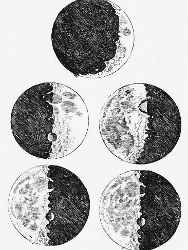Galileos Drawings Of The Phases Of The Moon Photographic Print By