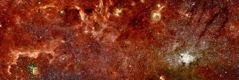 Infrared Image of the Center of the Milky Way Galaxy Photographic Print