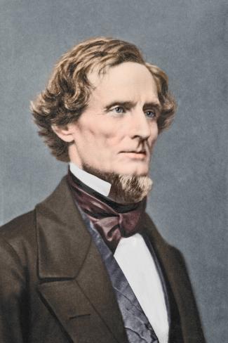 Jefferson F. Davis Portrait, Circa 1860 Photographic Print