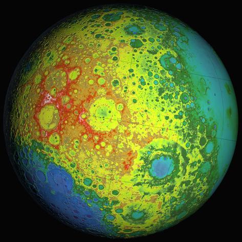 Lunar Topography Globe Photographic Print