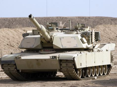 M1 Abrams Tank at Camp Warhorse Photographic Print