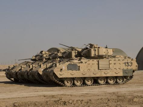 M2/M3 Bradley Fighting Vehicles Photographic Print