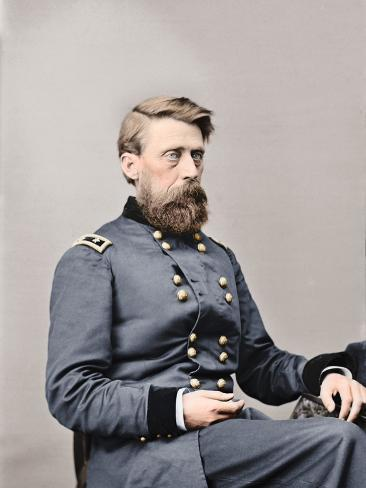 Major General Jefferson C. Davis of the Union Army, Circa 1860 Photographic Print