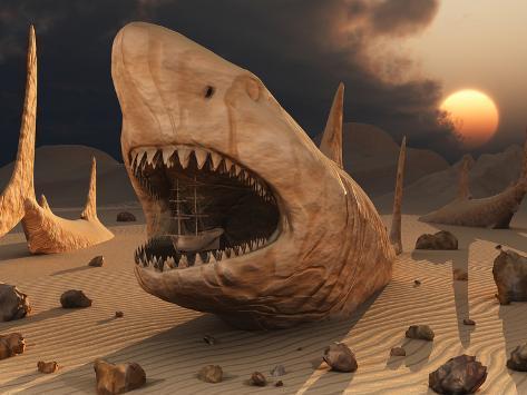 Megalodon Desert Photographic Print